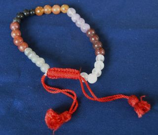 7 Stone Bead Bracelet Adjustable