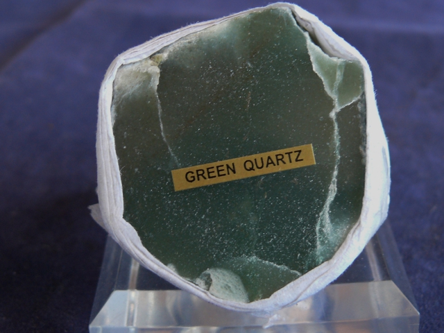 Green Quartz Face Polished